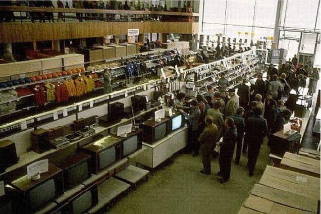 Полиці радянських магазинів