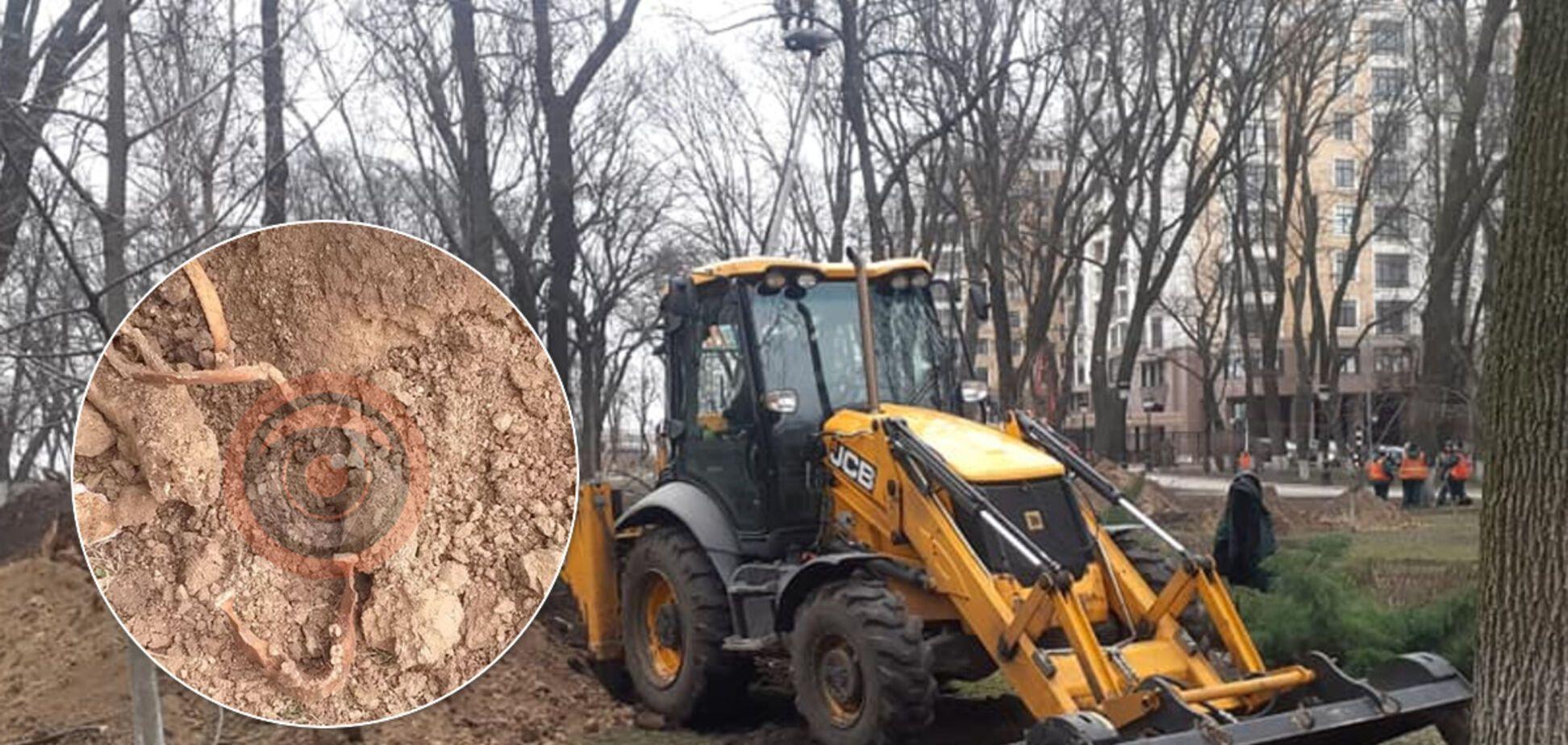 Под Радой нашли человеческие останки: откопали череп и кости