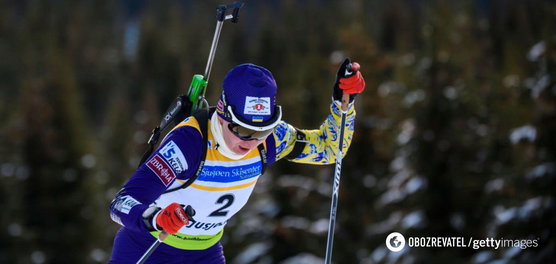 Україна драматично втратила медаль на Кубку світу з біатлону