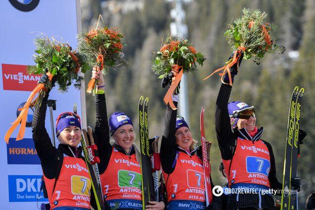 Зліва направо: Семеренко, Джима, Меркушина, Підгрушна