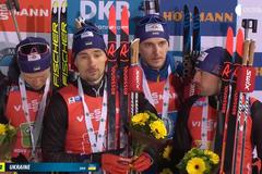 Украина сенсационно взяла 'серебро' в эстафете Кубка мира по биатлону