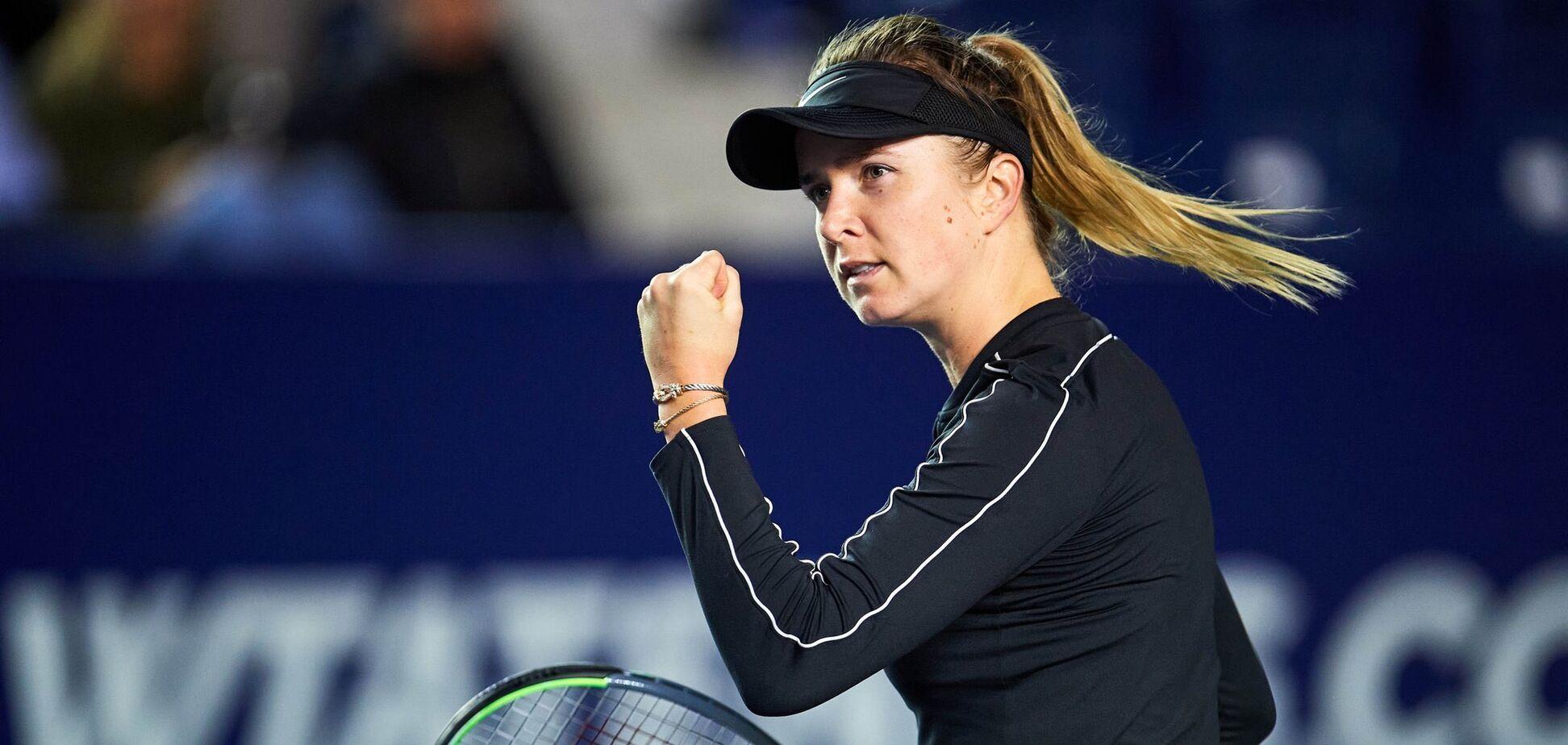 Свитолина с разгромом вышла в финал турнира в Монтеррее