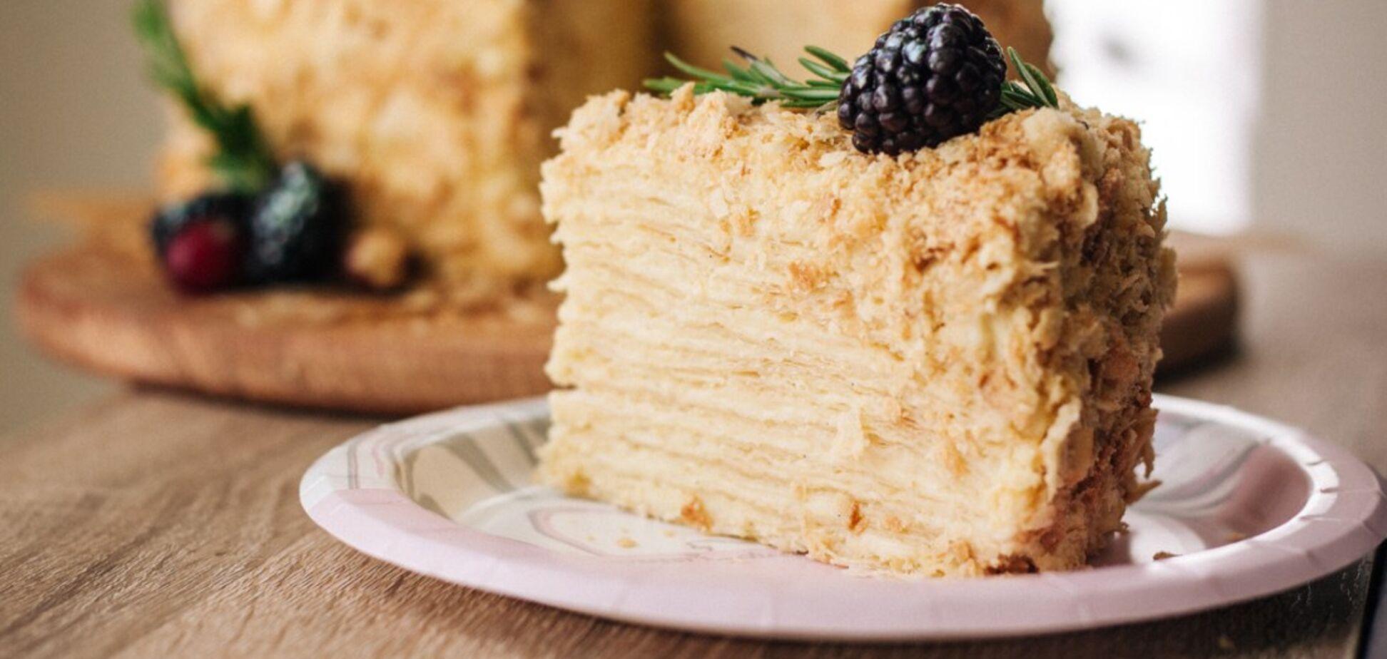 Найпростіший рецепт торта 'Наполеон' без випікання