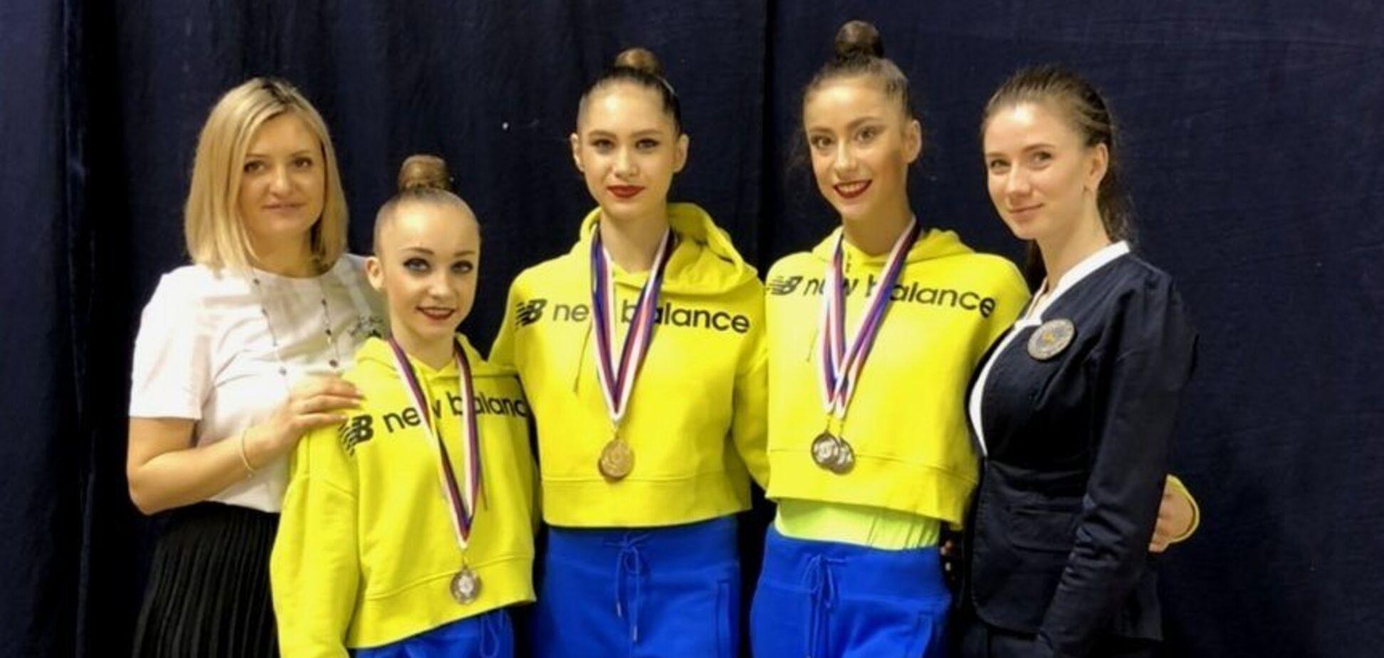 Украинские гимнастки феерически выступили на Гран-при в Чехии, завоевав 7 медалей: видео