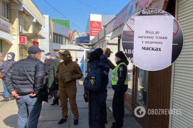 У Сумах чоловіка оштрафували за те, що був без маски у магазині
