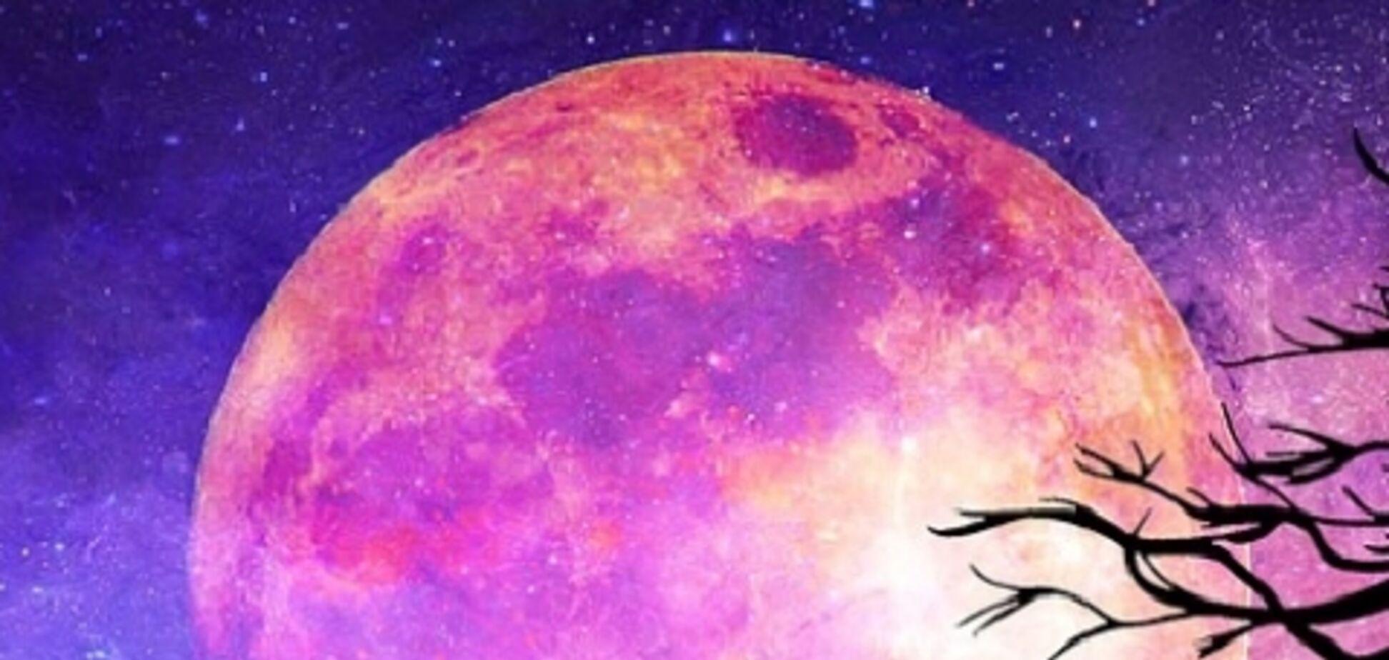 Рожевий місяць-2020: коли спостерігати найяскравішу суперповню року