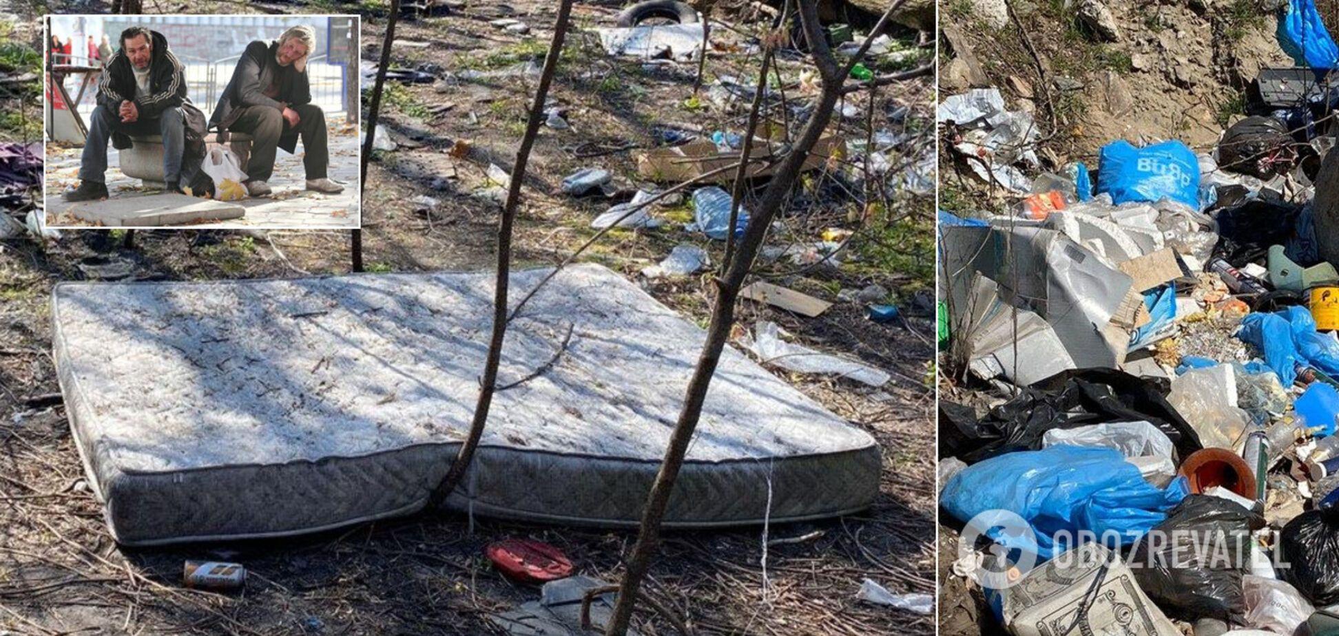 В Киеве появился настоящий 'город' бездомных из грязи и мусора: люди бьют тревогу