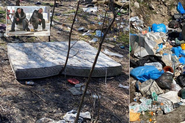 У Києві з'явилося справжнє 'місто' безхатченків із бруду і сміття: люди б'ють на сполох