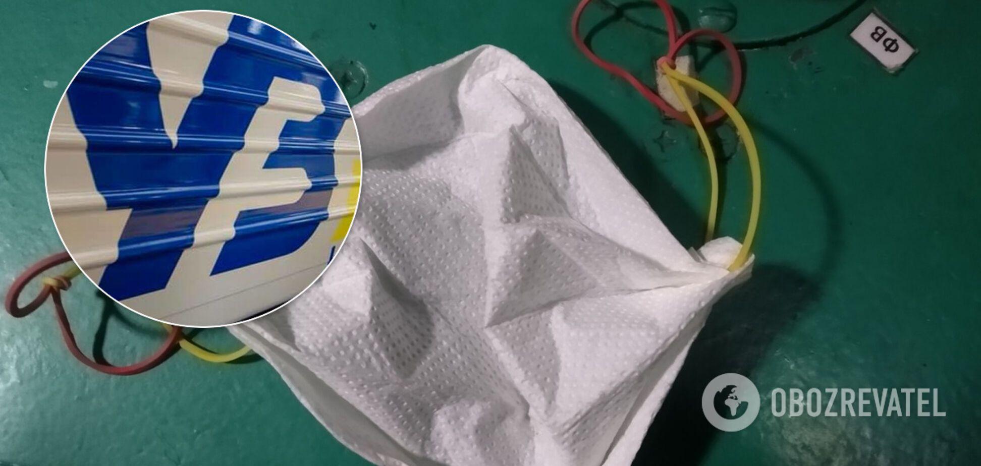 В 'Укрзалізниці' после скандала с бумажными масками начались разборки: позорные средства защиты приказали спрятать