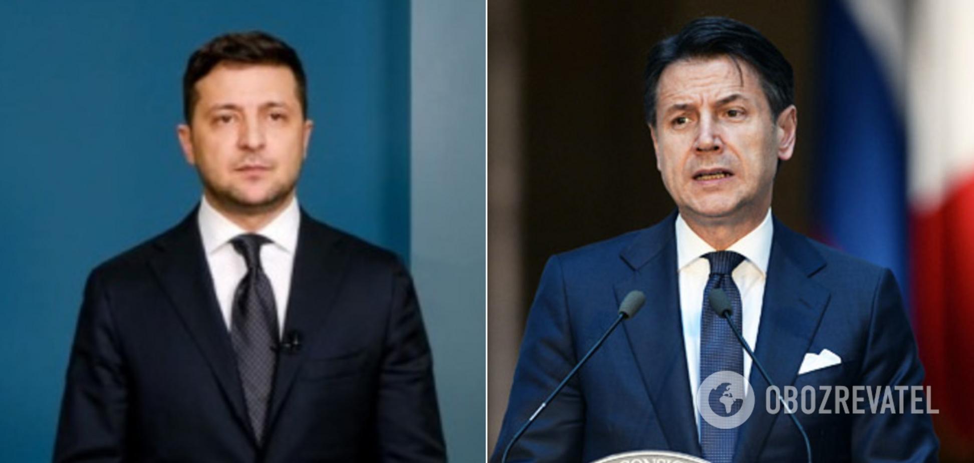 Зеленский провел переговоры с премьером Италии Конте: о чем говорили