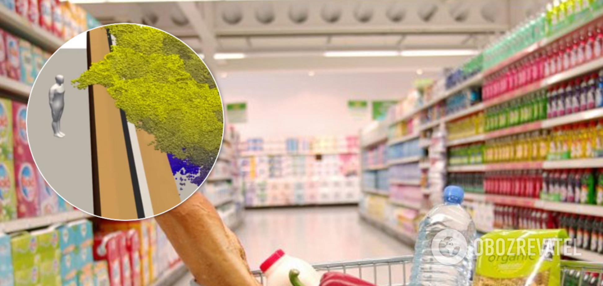 Как коронавирус передается в супермаркете: ученые показали наглядное видео