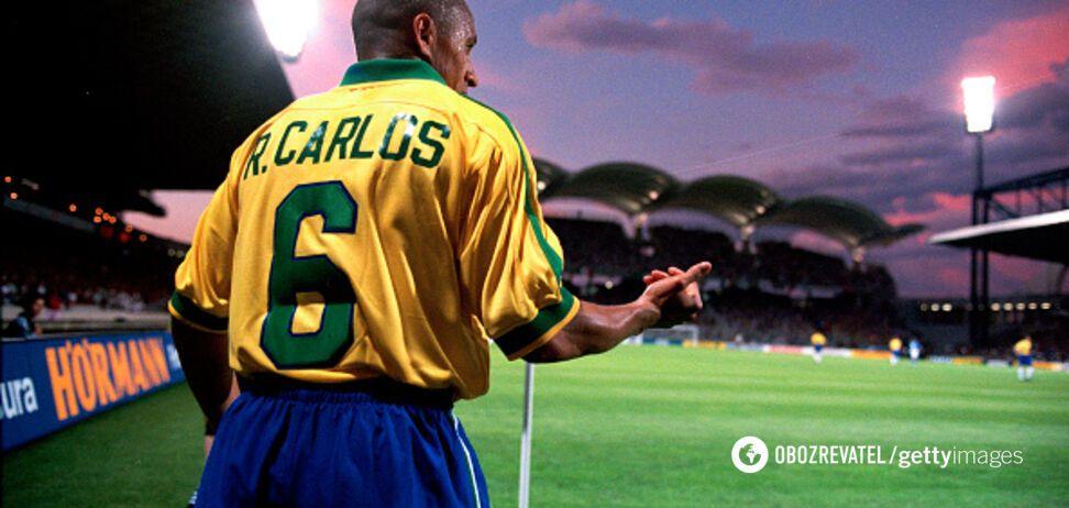 В интернете вспомнили самый невероятный гол Роберто Карлоса