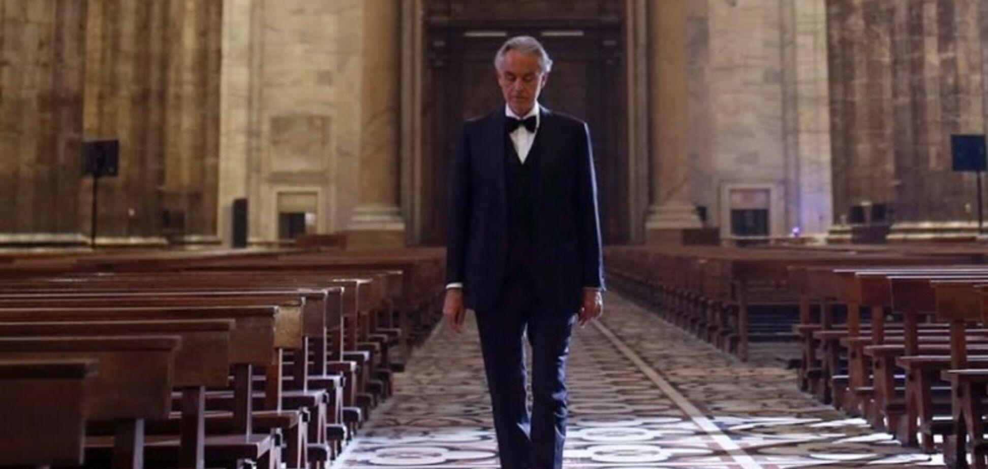 Андреа Бочелли выступил в пустом Миланском соборе. Полное видео