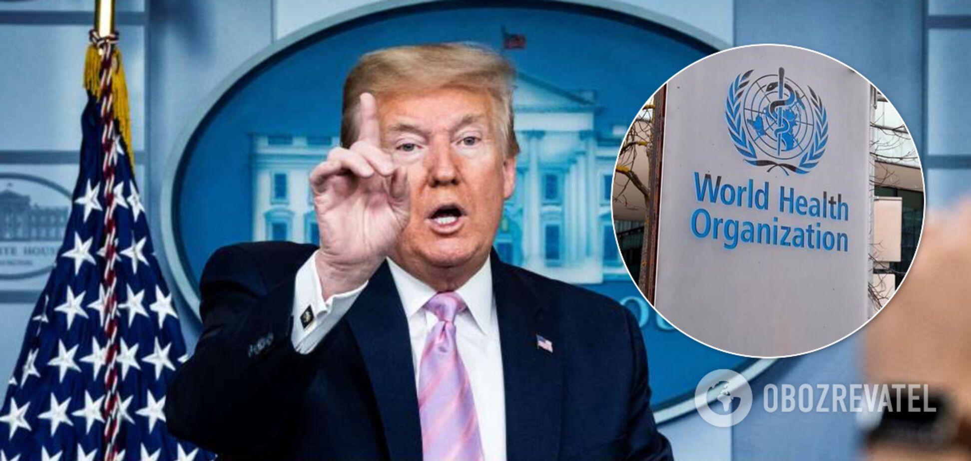 Трамп пригрозив виходом із ВООЗ і СОТ