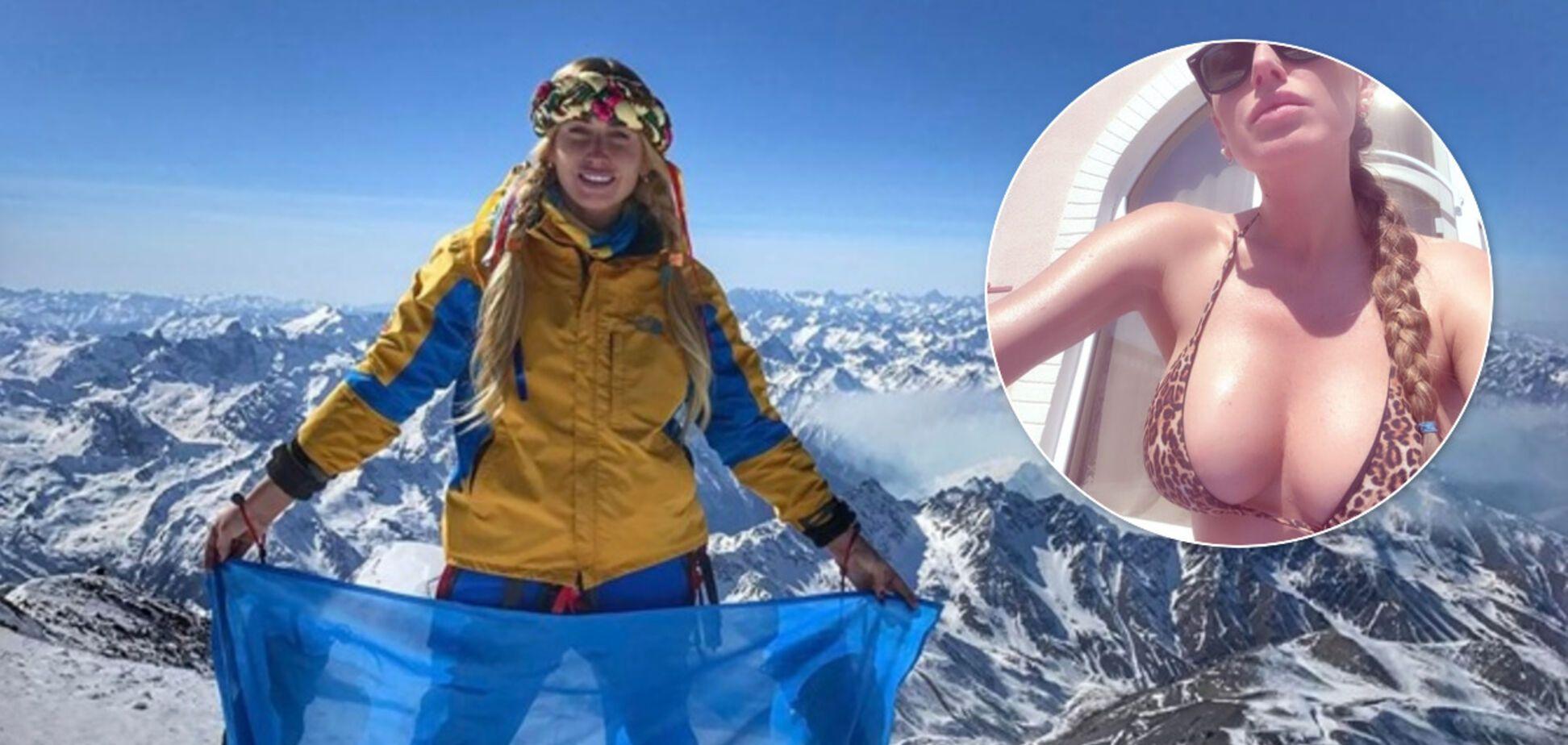 Украинская альпинистка Ирина Галай поразила сеть откровенным снимком