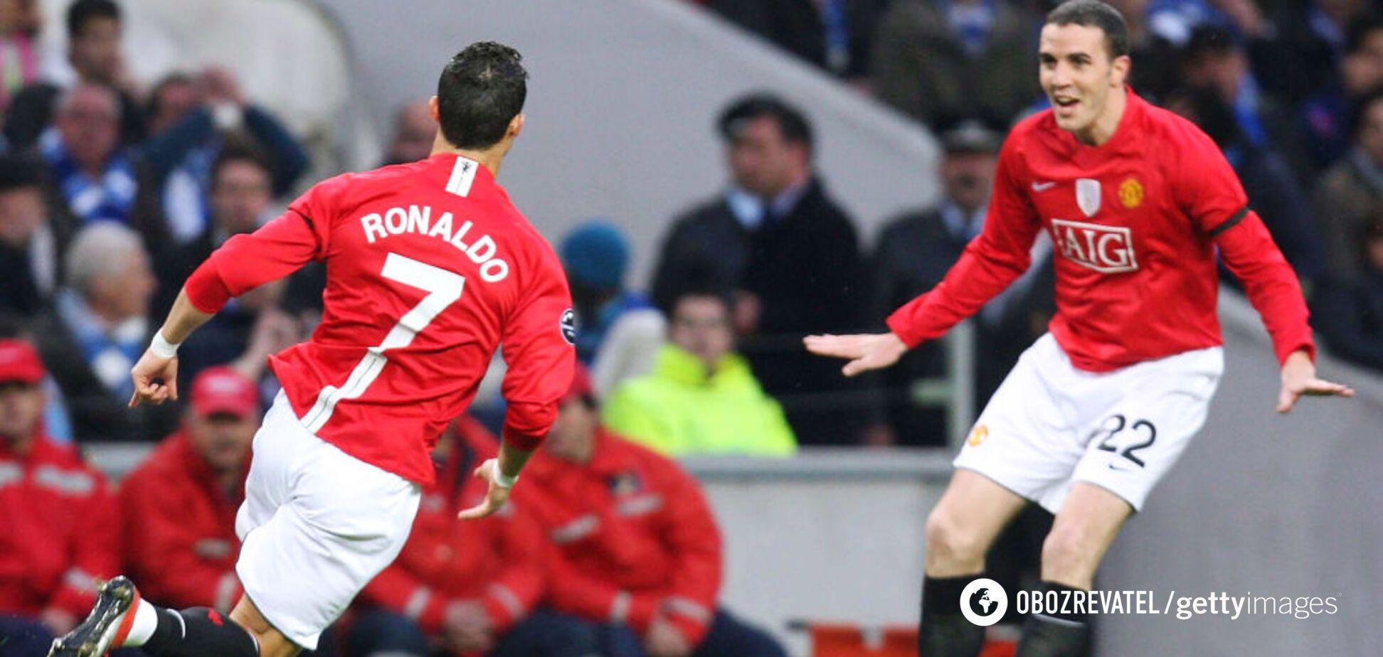 Криштиану Роналду празднует гол в ворота 'Порту'