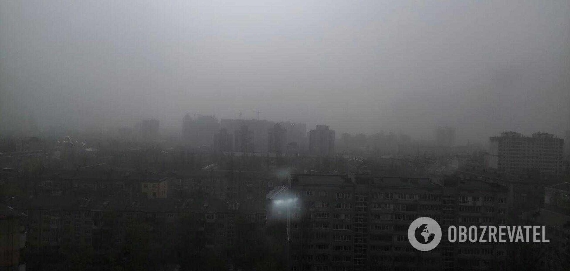 Киев и область накрыла мощная пылевая буря