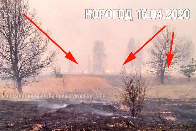 В Чернобыльской зоне опять вспыхнул пожар