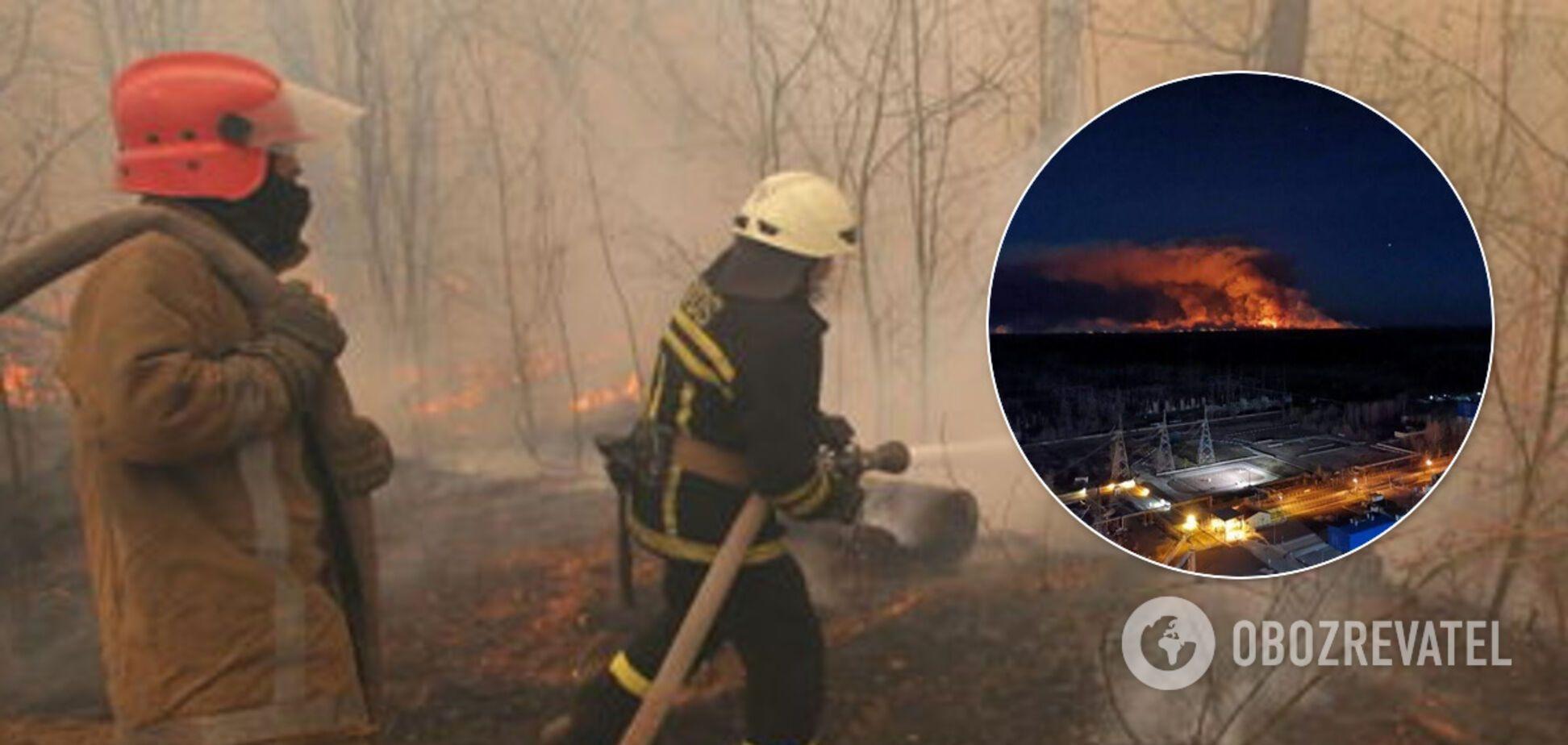 Пожар в Чернобыльской зоне: появились новые очаги тления