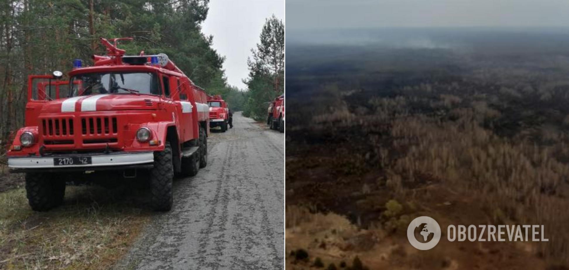 Ліквідація масштабної пожежі в Чорнобильській зоні: з'явилося вражаюче відео