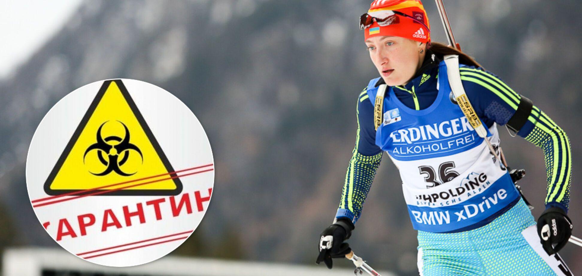 Биатлонистка сборной Украины Ольга Абрамова рассказала о панике из-за коронавируса