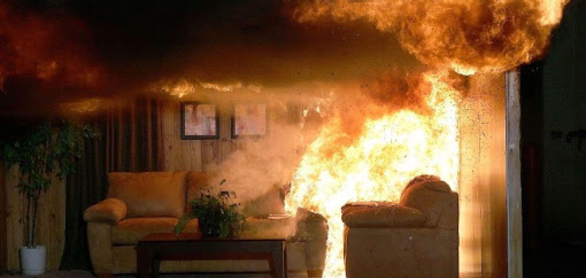 На Дніпропетровщині під час пожежі загинув чоловік. Фото з місця НП