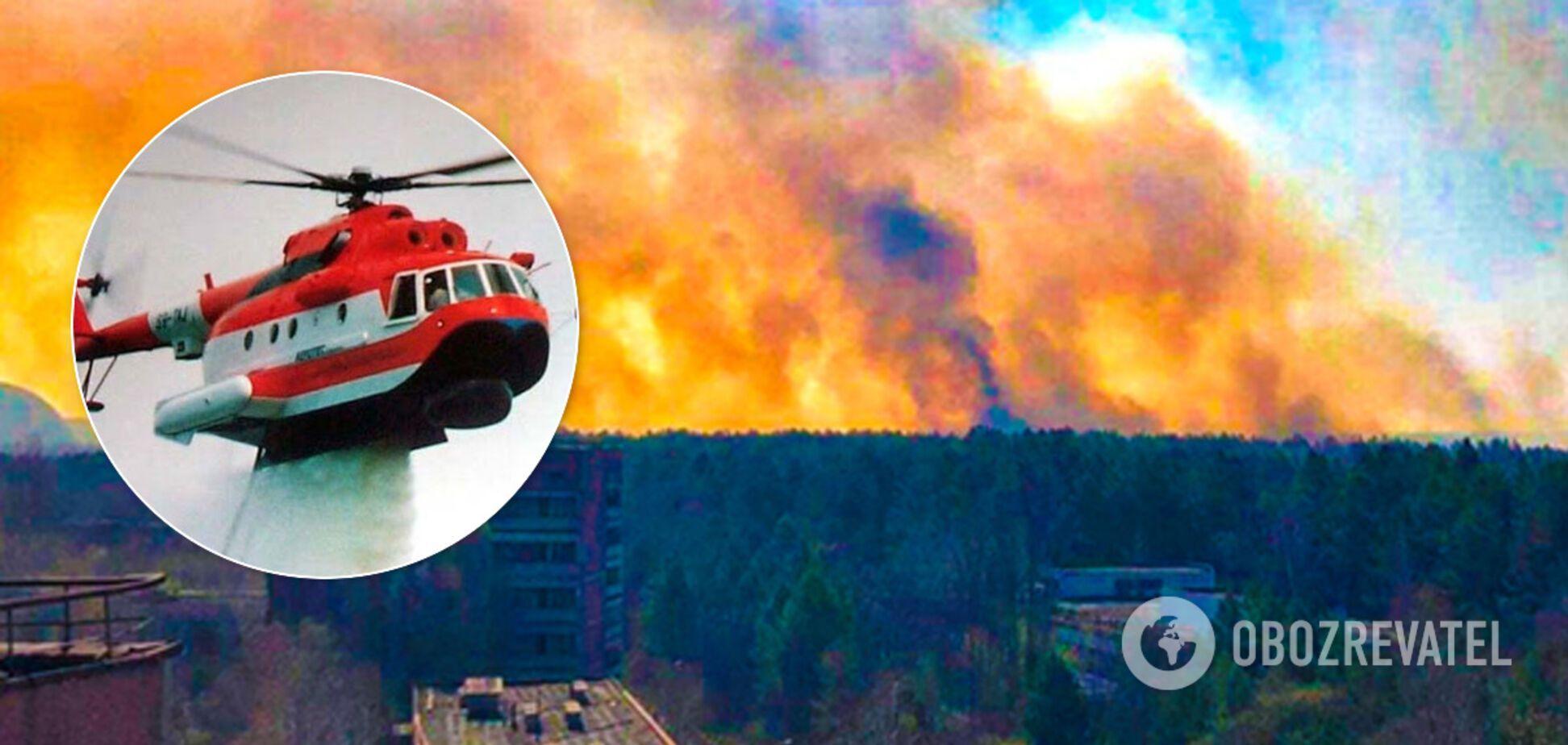 Сбросили 240 тонн воды: спасатели рассказали о новом пожаре в Чернобыле