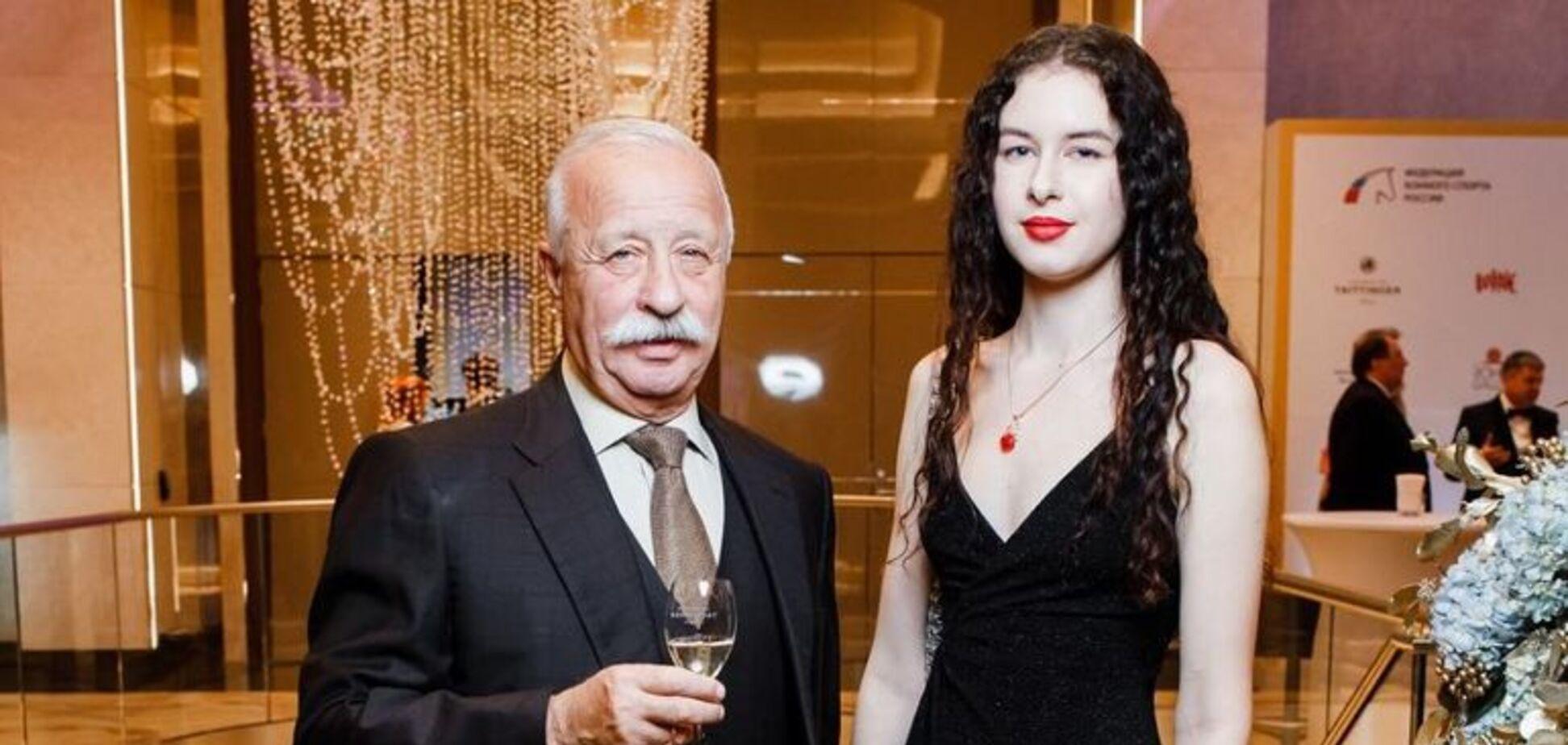 Леонид Якубович с дочкой