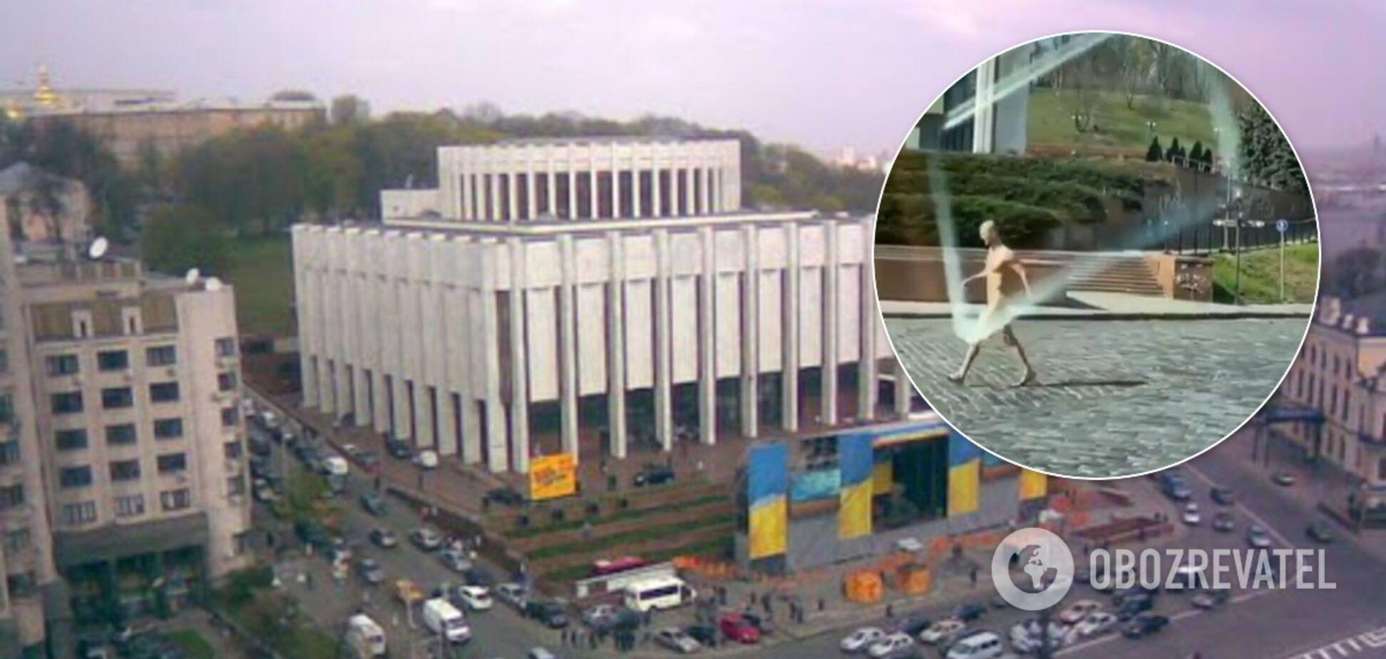 Без маски: в центре Киеве голый мужчина попал на пикантное видео. 18+