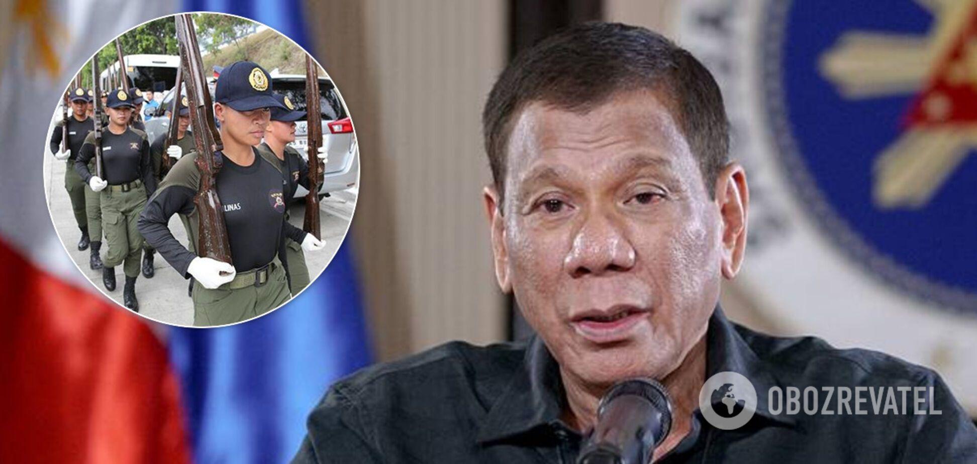 Президент Філіппін дозволив розстрілювати порушників карантину