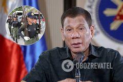 Президент Филиппин разрешил расстреливать нарушителей карантина
