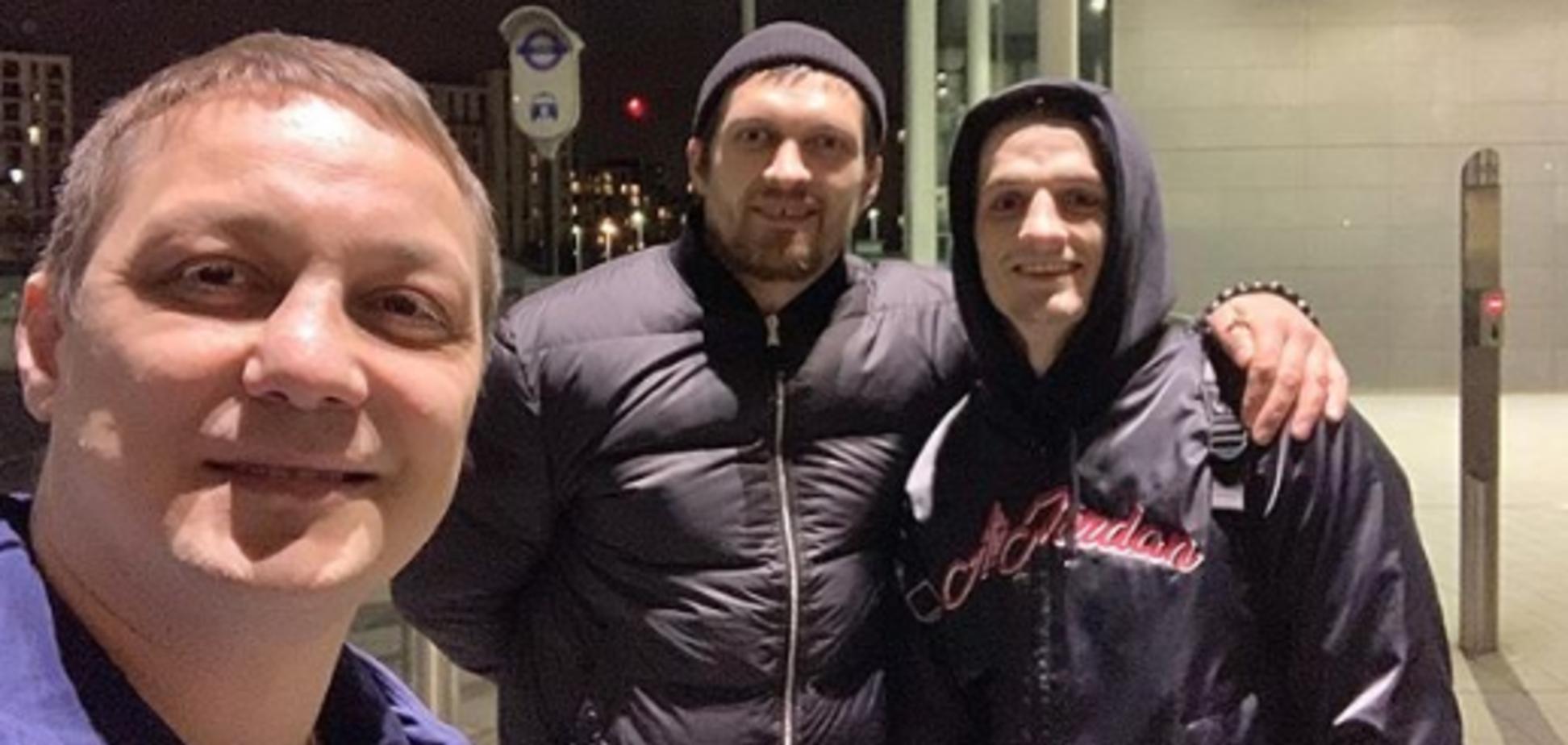 Антон Кадушин, Александр Усик и Глеб Бакши