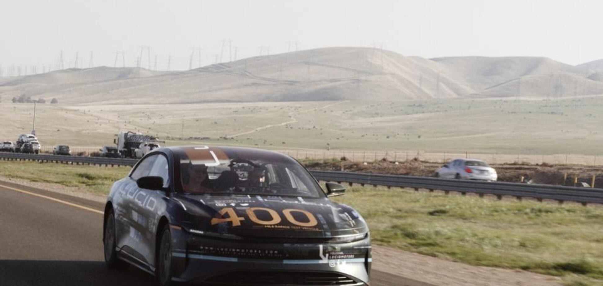 Конкурент Tesla Model S проїхав без підзарядки понад 640 км