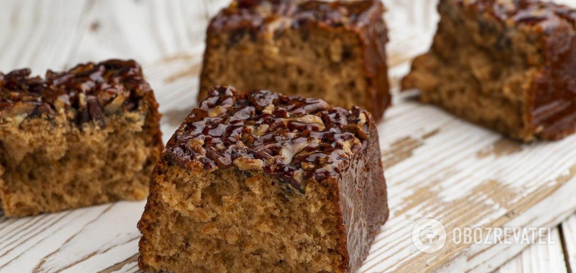 Медовый кекс с орехами - еще один шедевр от Лизы Глинской