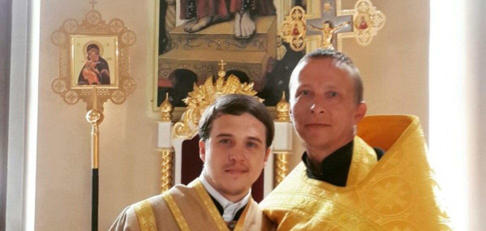 Иван Охлобыстин в церкви