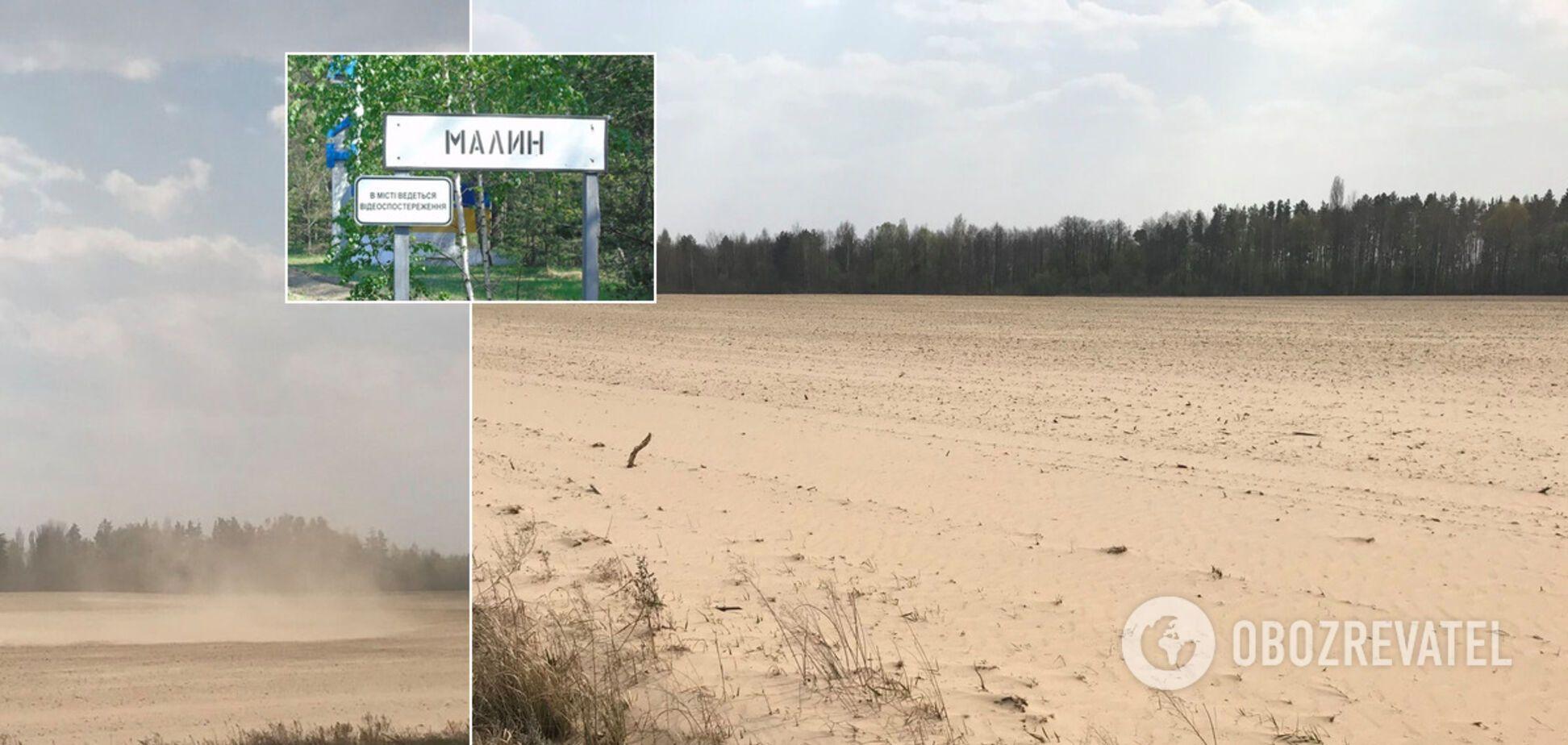 Через піщані бурі в Україні з'явилася ще одна копія Сахари. Вражаючі фото