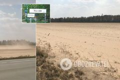 Из-за песчаных бурь в Украине появилась еще одна копия Сахары. Впечатляющие фото