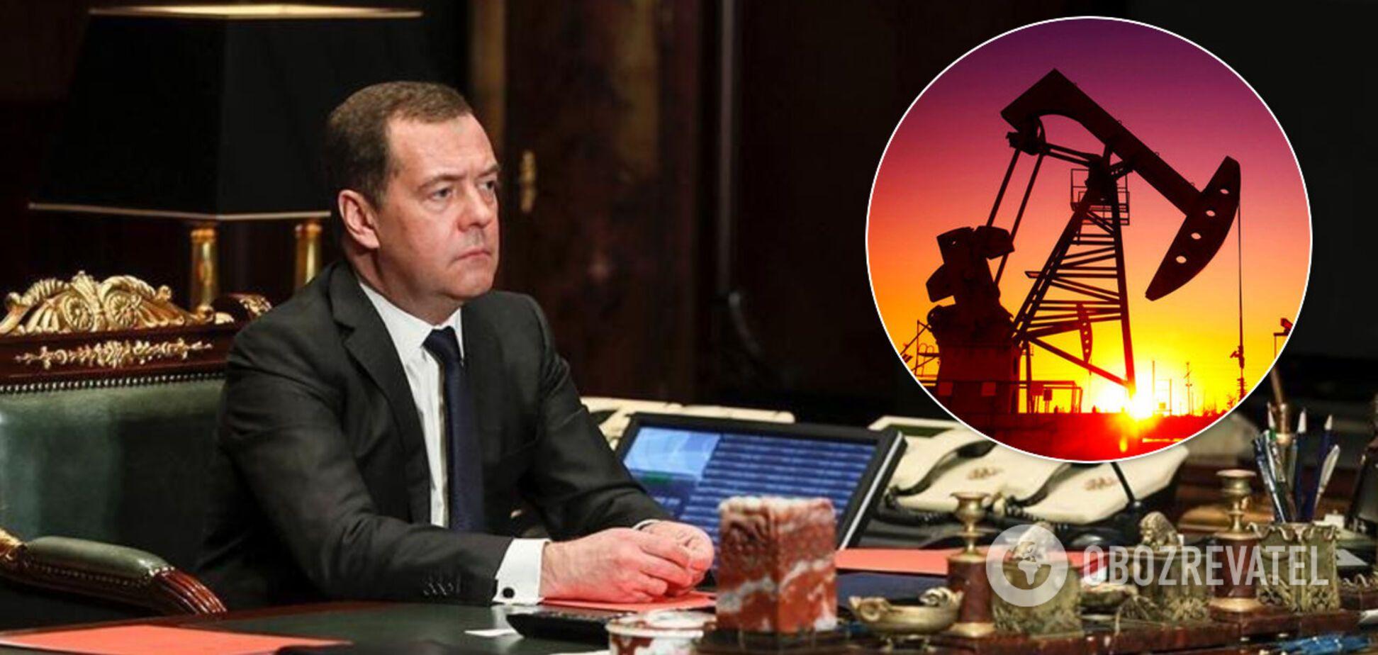 Медведєв назвав обвал вартості нафти картельною змовою. Джерело: колаж