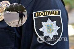 В Кропивницком парень с ножом чуть не набросился на патрульных. Видео 18+