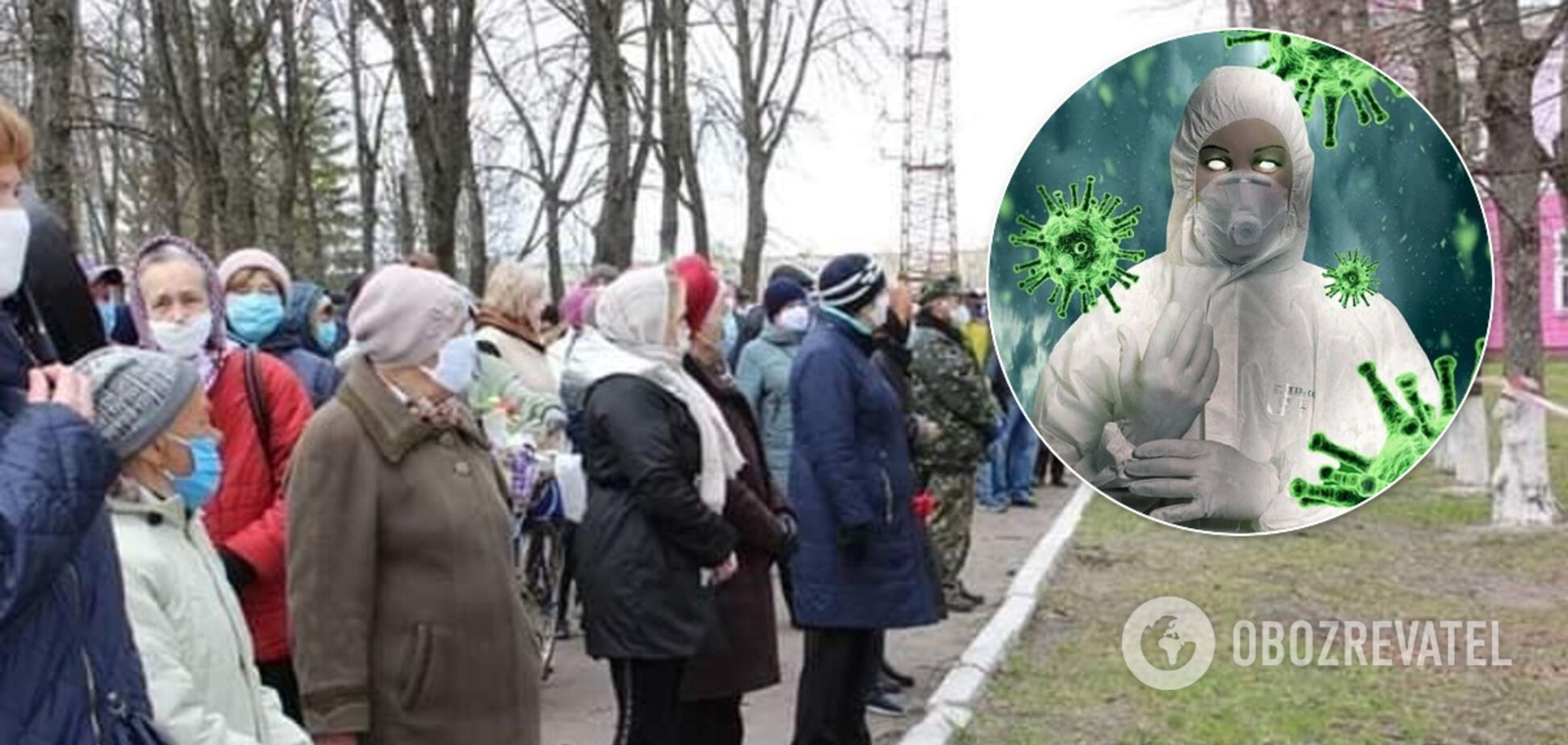 Карантин? Не чули! Натовп пенсіонерів у розпал COVID-19 прийшов на похорон у Шостці