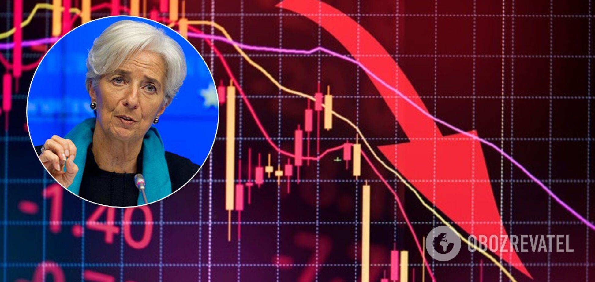 Из-за коронавируса: Лагард дала мрачный прогноз экономике Европы