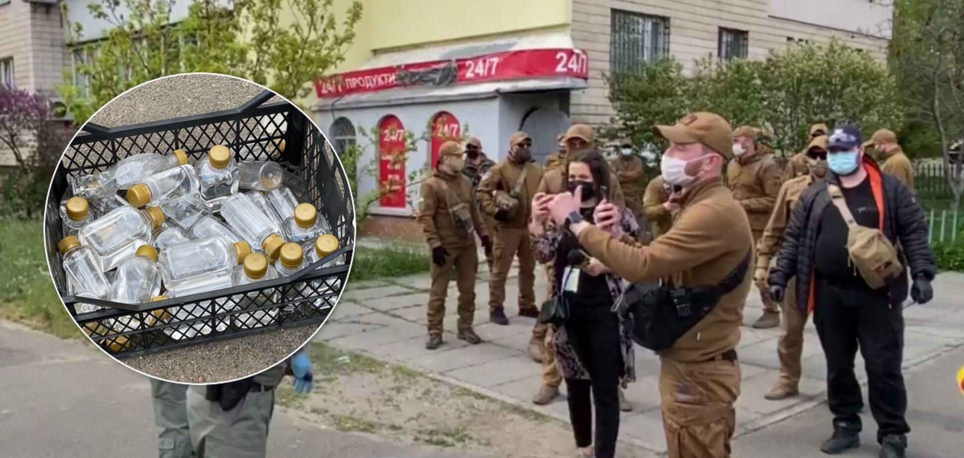 В Киеве жители восстали против 'наливайки' под домом: фото и видео закрытия 'точки'