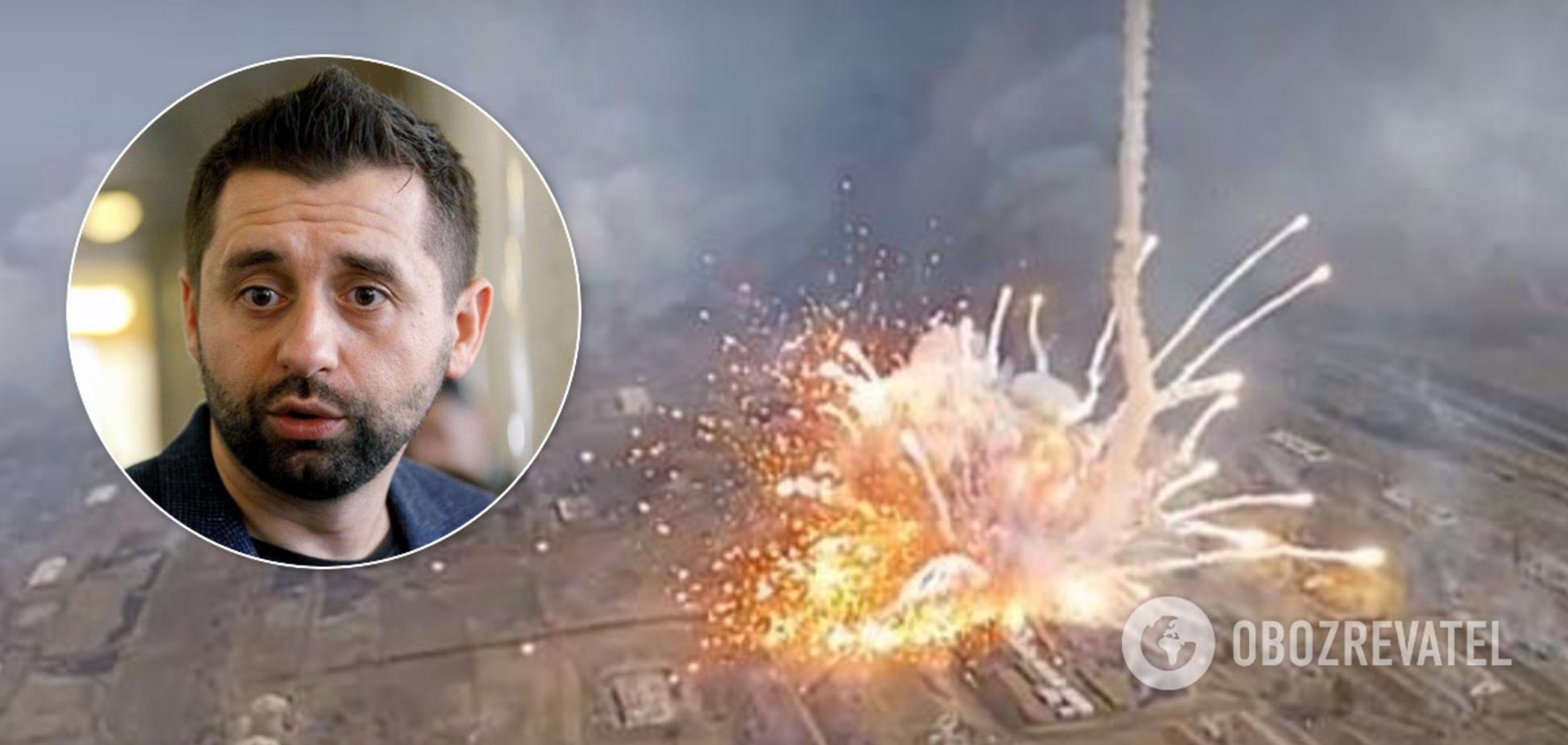 Арахамія заявив, що Росія непричетна до вибухів на військових складах в Балаклії