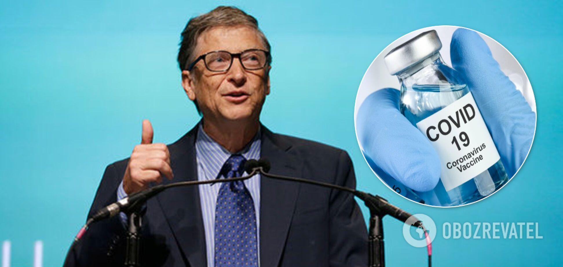 Білл Гейтс назвав реальний термін виходу вакцини проти коронавірусу