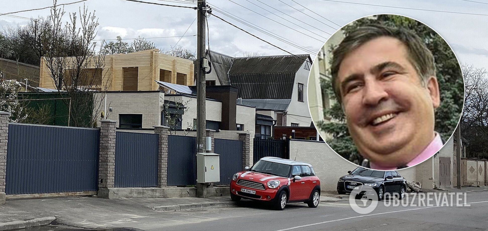 Саакашвілі почав будувати другий маєток під Києвом. Фото та відео