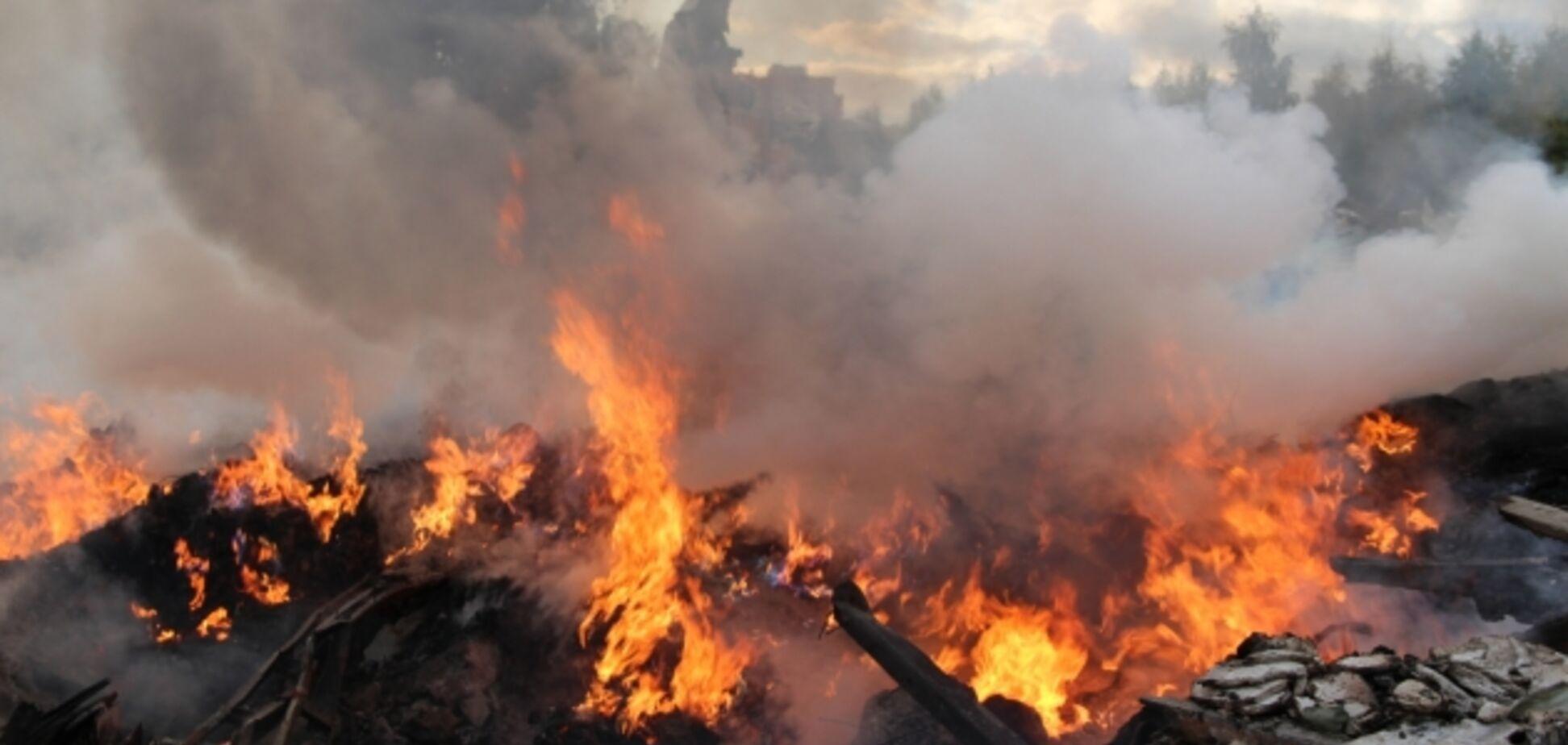 На Дніпропетровщині на сміттєзвалищі знайшли обгорілий труп