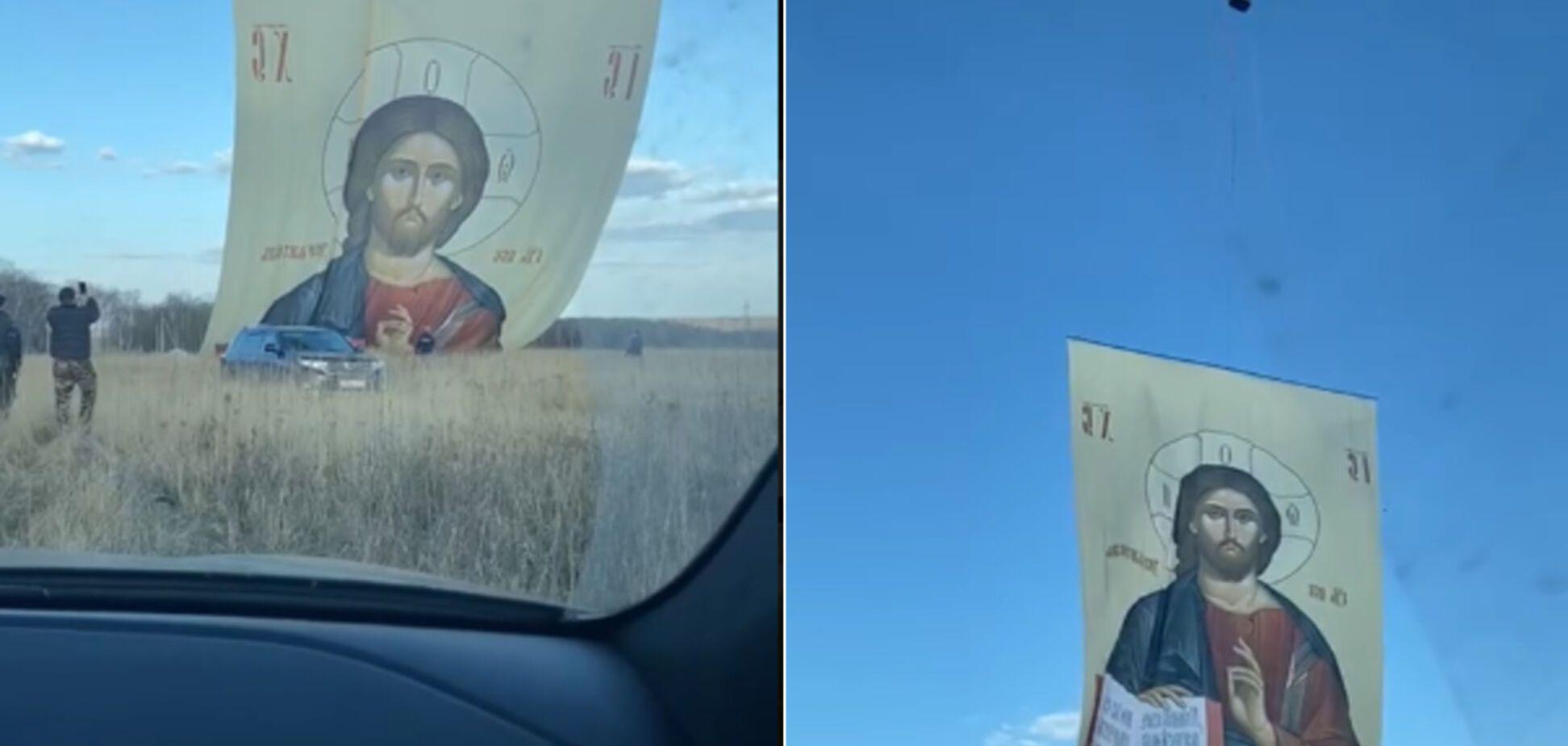 Боксери в Росії проти коронавiрусу запустили в Серпухові аеростат з Ісусом