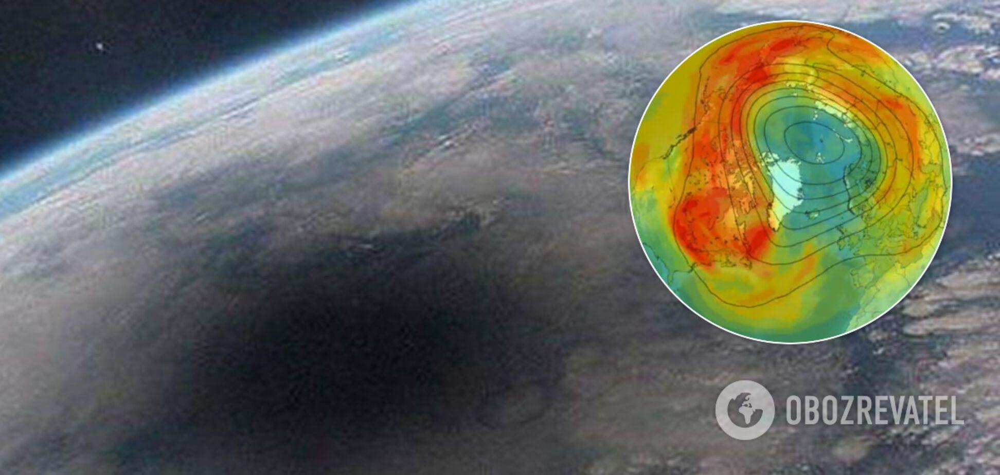 Над Арктикою затягнулася величезна озонова діра: вчені пояснили аномалію. Відео