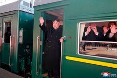 Ким Чен Ын в своем поезде