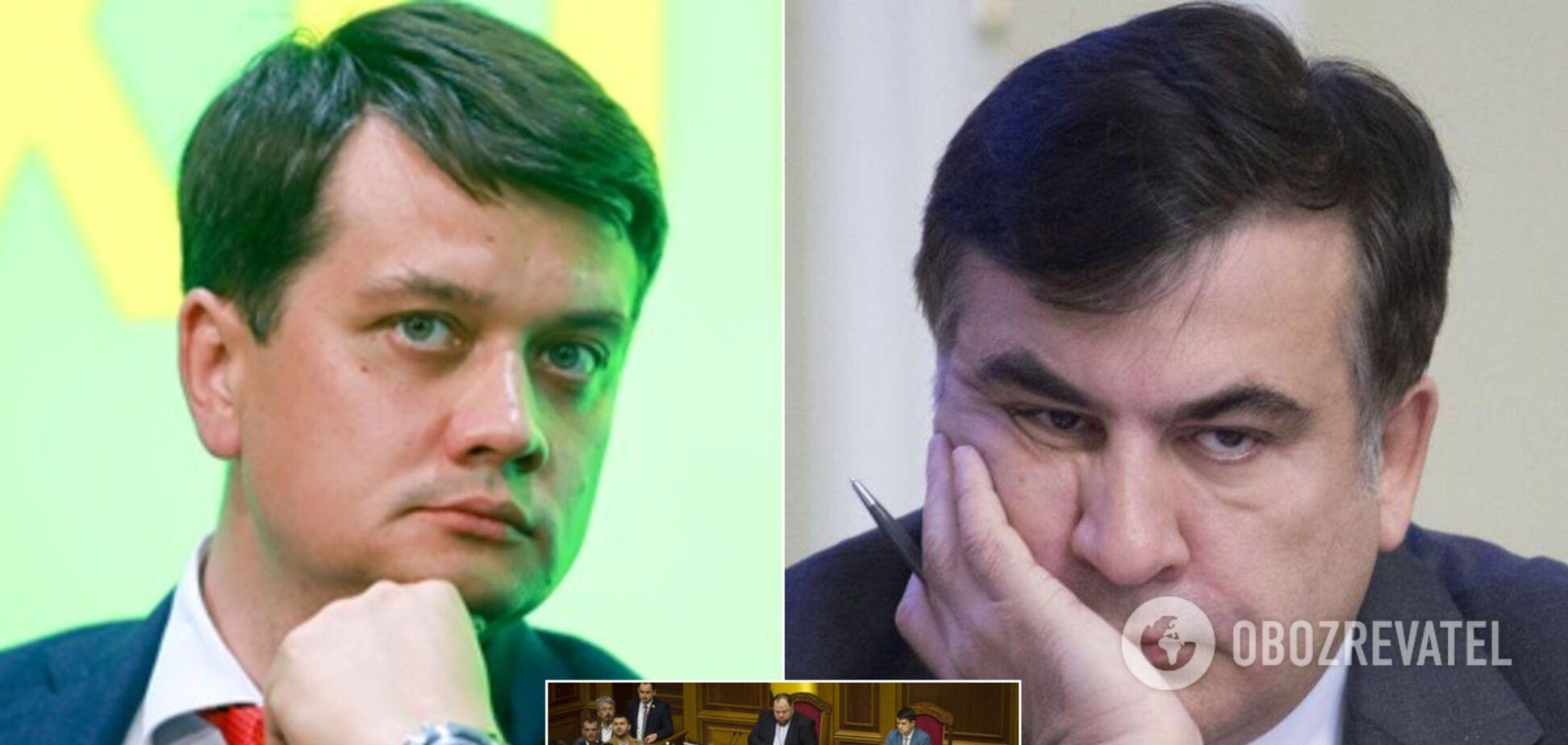 Разумков рассказал о разногласиях в 'Слуге народа' по назначению Саакашвили в Кабмин